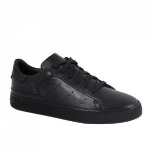 Pantofi din piele naturală pentru bărbați cod 550 Black