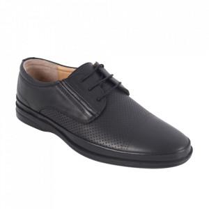 Pantofi din piele naturală pentru bărbați cod 653 Siyah