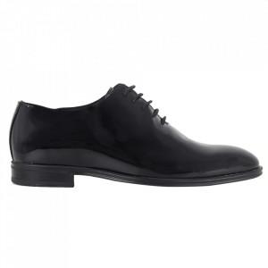 Pantofi din piele naturală pentru bărbați cod 913 Negri