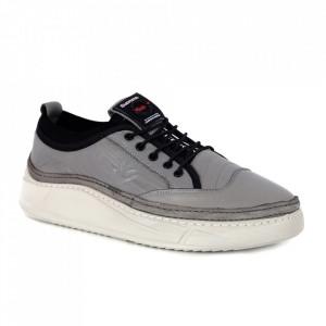 Pantofi din piele naturală pentru bărbați cod 9202 Gri