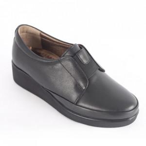 Pantofi din piele naturală pentru dame cod 003 Black