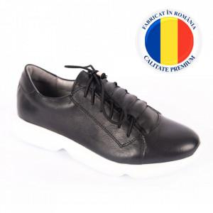 Pantofi din piele naturală pentru dame cod 168 Negru
