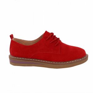 Pantofi din piele naturală Salma Roșii