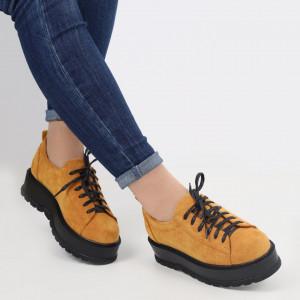 Pantofi pentru dame cod XH-32 Yellow
