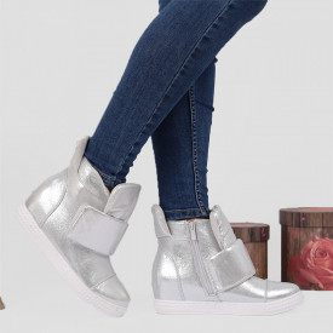 Pantofi Sport Cod 647 - Pantofi sport din piele ecologică cu platformă  Închidere prin scai  Foarte comfortabili - Deppo.ro