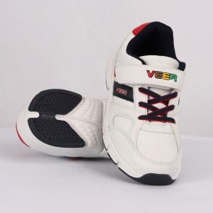 Pantofi sport pentru băieți cod CP71 Albi