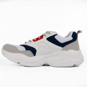 Pantofi Sport pentru bărbați cod 13946 White - Pantofi sport pentru bărbați  Ideali pentru ieșiri si practicarea exercitiilor în aer liber - Deppo.ro