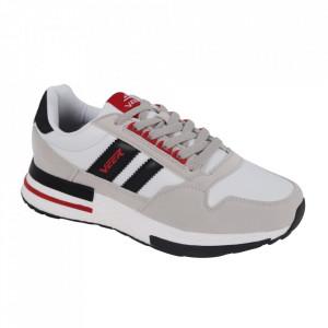 Pantofi sport pentru bărbați cod 2010-1 White/Black/Red