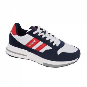 Pantofi sport pentru bărbați cod 2010 White/Deep Blue