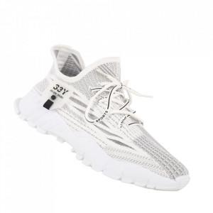 Pantofi sport pentru bărbați cod 207 White/Grey
