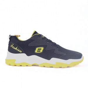 Pantofi Sport pentru bărbați cod 921-1 Black/Yellow