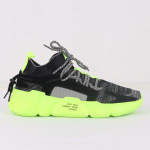Pantofi Sport pentru bărbați cod H23 Black/Green