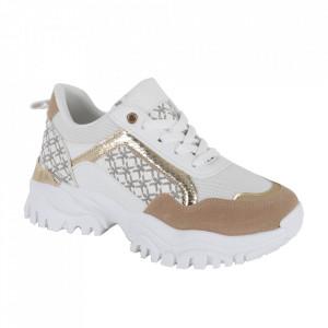 Pantofi sport pentru dame cod D038 White