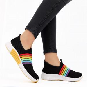 Pantofi Sport pentru dame Cod HQ-10-59 Black - Pantofi sport pentru dame dinpanza ,talpa din spuma Foarte confortabili si usori - Deppo.ro