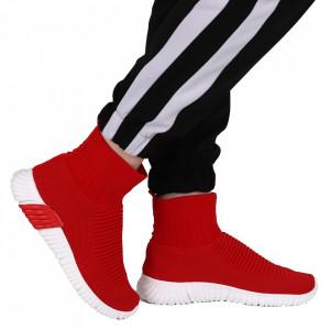 Pantofi Sport pentru dame Cod LUKSP0 Red - Pantofi sport pentru dame dinpânză Foarte confortabili - Deppo.ro