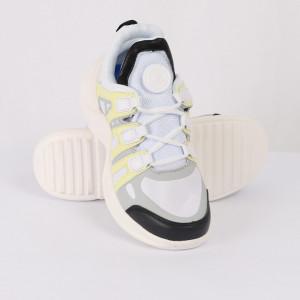 Pantofi Sport pentru dame Cod VENUS-0007 Albi - Pantofi sport albi din material textil respirabil cu vârf rotund și talpă din silicon flexibilă si confortabilă - Deppo.ro