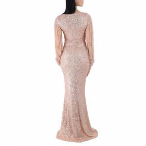 Rochie Catrina Roz Pudră - Rochie Chanttal cu paiete, simte-te atrăgătoare purtând această rochie și atrage toate privirile la urmatoarea petrecere. - Deppo.ro