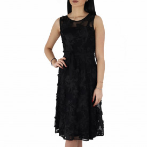 Rochie Kaitlin Black - Rochie elegantă cu material dantelat, pune-ți silueta în evidență și atrage toate privirile - Deppo.ro