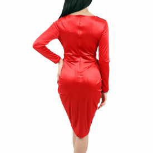 Rochie Morgan Red - Rochie elegantă roşie din material tip catifea, simte-te atrăgătoare purtând această rochie și strălucește la urmatoarea petrecere. - Deppo.ro
