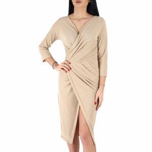 Rochie Paloma Gold - Rochie elegantă, pe corp, simte-te atrăgătoare purtând această rochie și atrage toate privirile la urmatoarea petrecere. - Deppo.ro