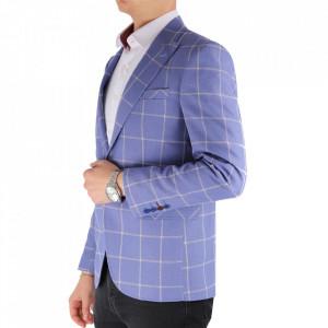 Sacou SC-149 Blue - Sacou din 83% cotton, 17% polyester Ideal pentru o ținută casual de zi care poate fii purtat atât cu cămașă cât și cu helancă - Deppo.ro