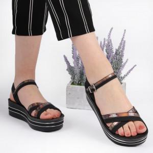 Sandale cu platformă cod Z25 Black