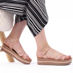 Sandale cu platformă cod Z25 Pink