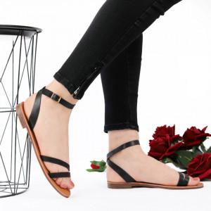 Sandale cu talpă joasă cod M35 Red Black