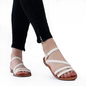 Sandale cu talpă joasă cod M38 White