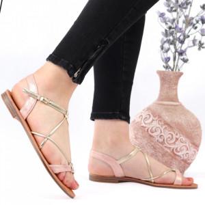 Sandale cu talpă joasă cod M39 Pink