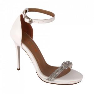 Sandale din piele ecologică cod RS03 White