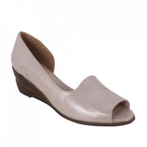 Sandale din piele naturală cod 0635 Powder Silver