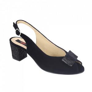 Sandale din piele naturală cod 1023 Negru