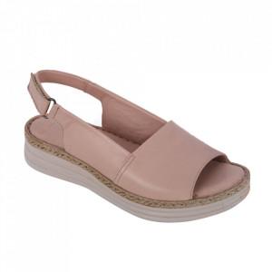 Sandale din piele naturală cod 103 Powder