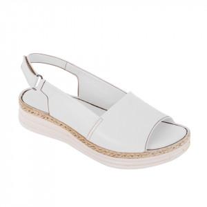 Sandale din piele naturală cod 103 White