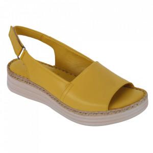 Sandale din piele naturală cod 103 Yellow