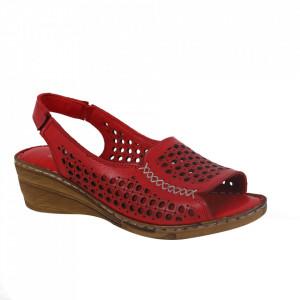 Sandale din piele naturală pentru dame cod 1038 Red
