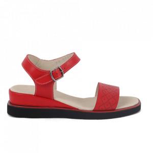 Sandale din piele naturală pentru dame cod 172001 Rosu
