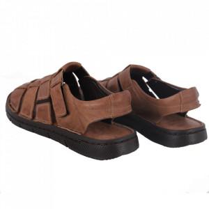 Sandale pentru bărbaţi cod 1763 Vizon - Sandale pentru bărbaţi Închidere cu scai Calapod comod - Deppo.ro