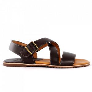 Sandale pentru bărbaţi cod 75101 Brown - Sandale pentru bărbaţi Închidere cu baretă Calapod comod - Deppo.ro