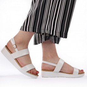 Sandale pentru dame cod 63135 Silver