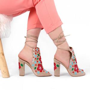 Sandale pentru dame cod B5670 Bej