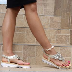 Sandale pentru dame cod B77 Gold