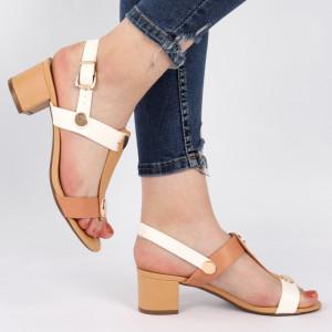 Sandale pentru dame cod J42 Beige
