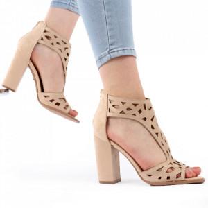 Sandale pentru dame cod M21 Beige
