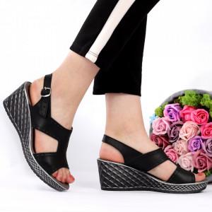 Sandale pentru dame din piele naturală cod 1554 Black