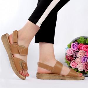 Sandale pentru dame din piele naturală cod 8AN5 Brown