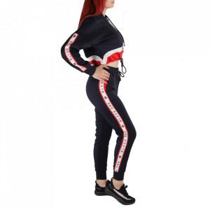 Trening pentru femei cod R064 - Trening pentru femei, compus din haină și pantalon Material ușor elastic Haina cu inchidere cu fermoar și buzunare cu inchidere cu fermoar Pantalon cu inchidere cu șiret și buzunare laterale - Deppo.ro