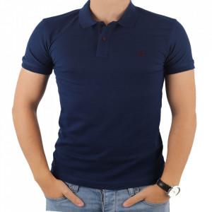Tricou pentru bărbați cod 4002 Bleumarin