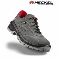 Pantofi de protectie S1P Heckel SUXXEED piele gri cu aerisire laterala